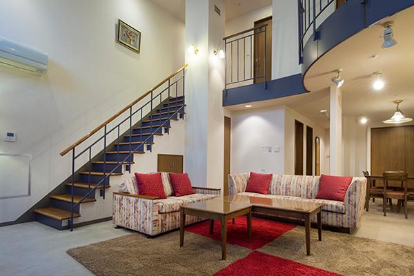 客室とコテージ